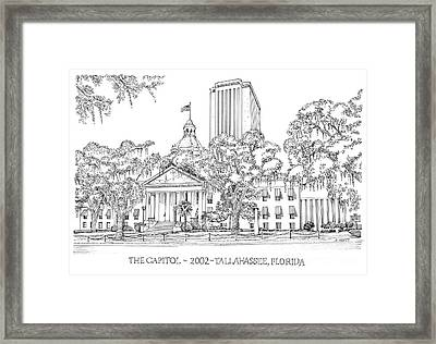Capitol 2002 Tallahassee Framed Print by Audrey Peaty