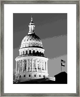 Capitol Dome Bw10 Framed Print by Scott Kelley