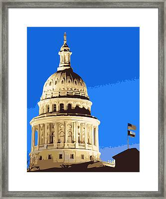 Capitol Dome Color 10 Framed Print by Scott Kelley