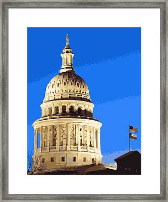 Capitol Dome Color 16 Framed Print by Scott Kelley