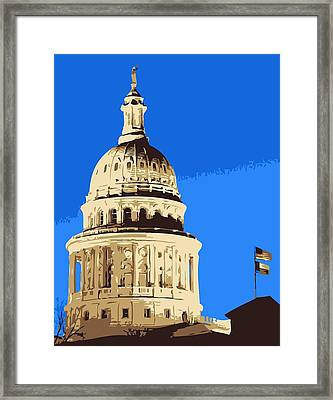 Capitol Dome Color 6 Framed Print by Scott Kelley