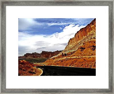 Capitol Freemont Road Framed Print by Laura Shields
