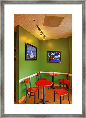 Capitol Hill Cafe Framed Print by Steven Ainsworth