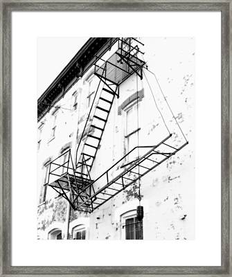 Capitol Hill Fire Escape Framed Print by Steven Ainsworth