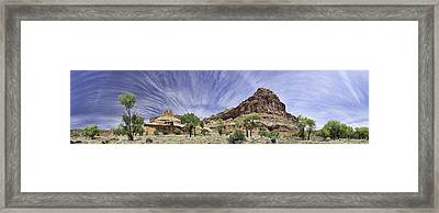 Framed Print featuring the photograph Capitol Reef Cloud Show by Gregory Scott