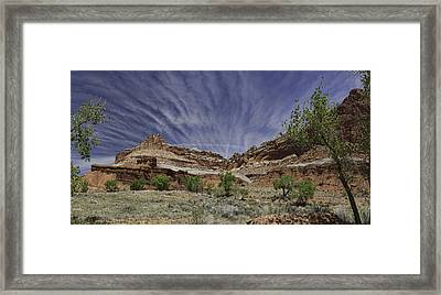 Framed Print featuring the photograph Capitol Reef Sky Fan by Gregory Scott
