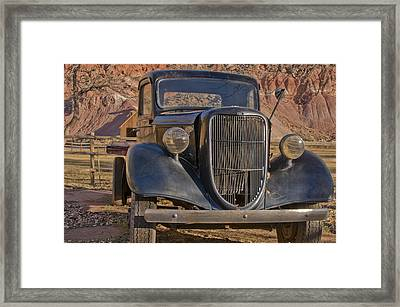 Capitol Reef Truck Framed Print