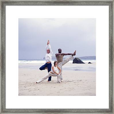 Capoeira And Yoga Framed Print by Tony Mcconnell