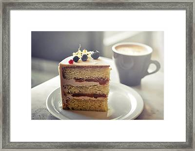 Cappuccino And Cake Framed Print