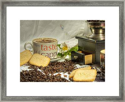 Cappuccino Nice Framed Print by Donald Davis