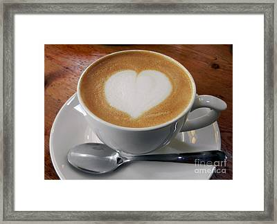 Cappuccino With A Heart Framed Print by Alexandra Jordankova
