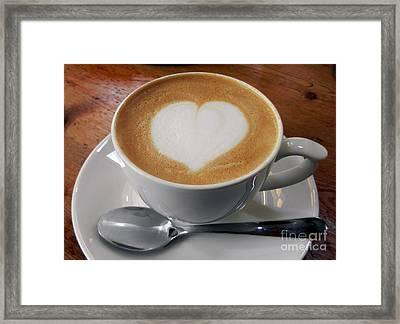 Cappuccino With A Heart Framed Print by Alexandra Jordankova