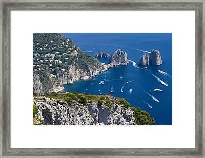 Capri Framed Print by Francesco Riccardo  Iacomino