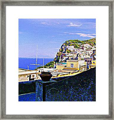 Capri Italy Framed Print by Mindy Newman