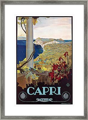Capri Framed Print by Mario Borgoni