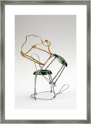 Capsule Of Bottle Of Champagne Framed Print