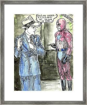 Captain America Framed Print by Mel Thompson