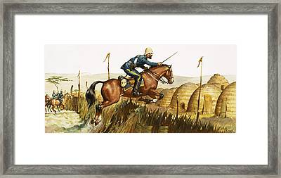 Captain Beresford In The Zulu Wars Framed Print by James Edwin McConnell