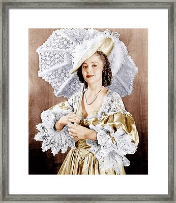 Captain Blood, Olivia De Havilland, 1935 Framed Print by Everett