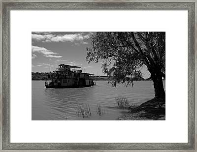 Captain Proud Paddle Steamer Framed Print by Noel Elliot