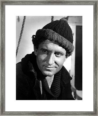 Captains Courageous, Spencer Tracy, 1937 Framed Print
