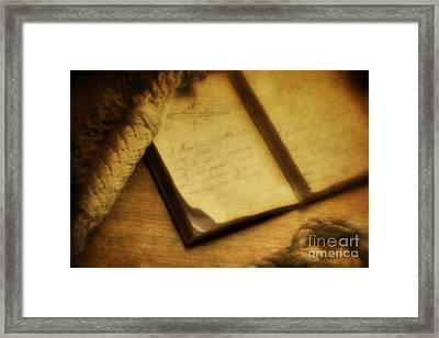 Captain's Journal Framed Print by Andrew Paranavitana