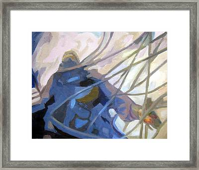 Captian Ahab Beckons Framed Print by Mark Hartung