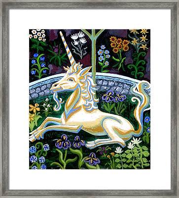 Captive Unicorn Framed Print by Genevieve Esson