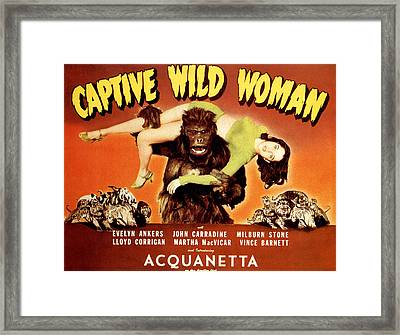 Captive Wild Woman, Ray Crash Corrigan Framed Print by Everett