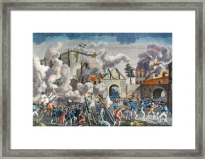 Capture Of Bastille, 1789 Framed Print by Granger