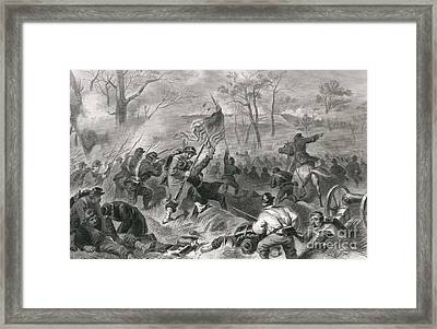 Capture Of Fort Donelson, 1862 Framed Print by Photo Researchers