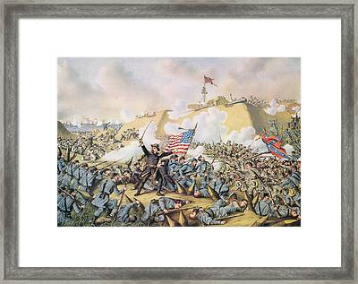 Capture Of Fort Fisher 15th January 1865 Framed Print