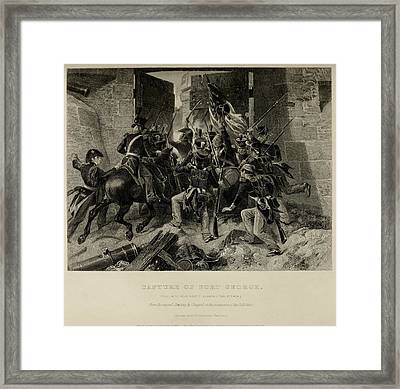 Capture Of Fort George. Col. Winfred Framed Print by Everett