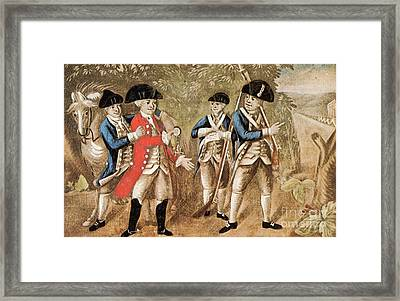 Capture Of Major Andre, 1780 Framed Print by Photo Researchers