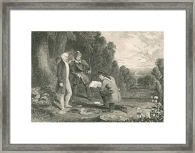 Capture Of Major John Andre, 1780 Framed Print by Photo Researchers