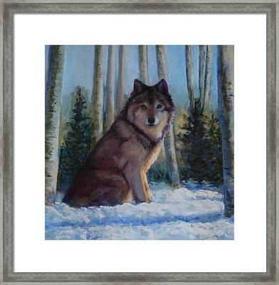 Captured By The Light Framed Print by Billie Colson