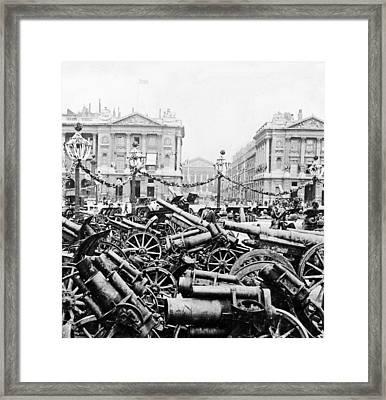 Captured German Guns At Palace De La Concorde In Paris - France Framed Print by International  Images