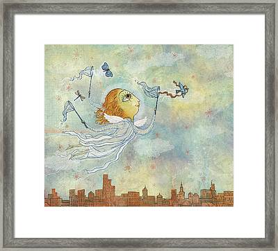 Capturing Flight 01 Framed Print