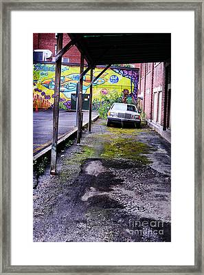 Car And Street Art Framed Print by HD Connelly