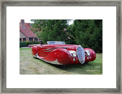 Car At Meadowbrook Framed Print by Grace Grogan