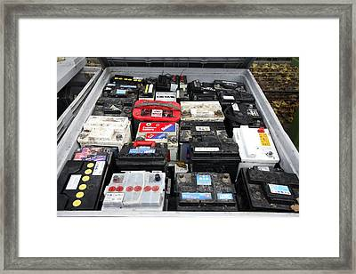 Car Battery Disposal Framed Print