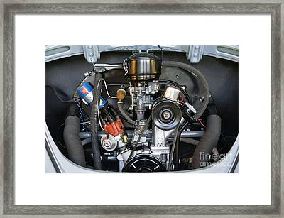 Car Engine Framed Print by Andersen Ross