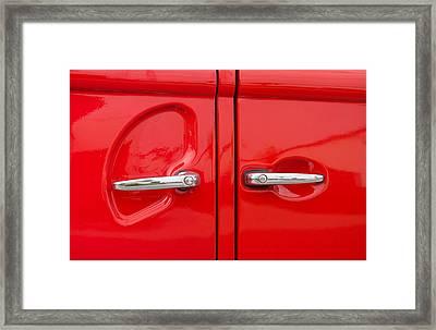 Car Handles Framed Print by Hans Engbers