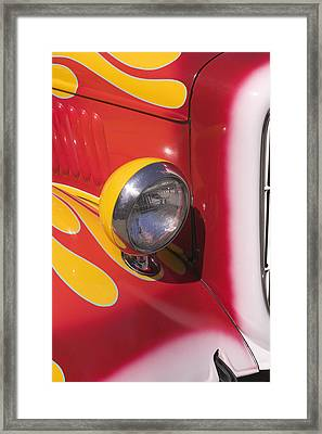 Car Headlight Framed Print by Garry Gay