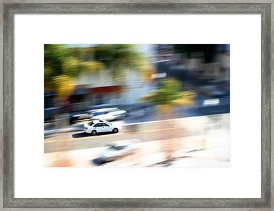 Car In Motion Framed Print by Henrik Lehnerer
