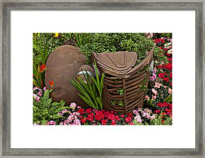 Car In The Garden Framed Print by Garry Gay