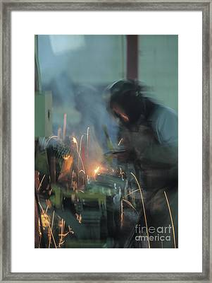 Car Industry Framed Print by Juan  Silva