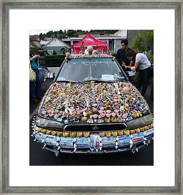 Car Of Teeth Framed Print by Kym Backland