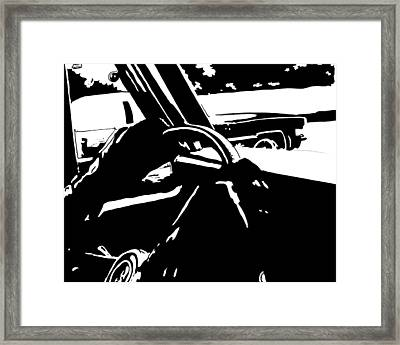 Car Passing Framed Print by Giuseppe Cristiano