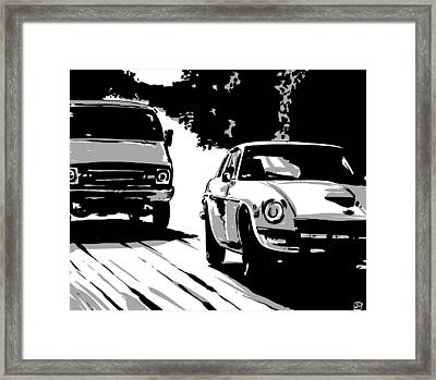 Car Passing Nr 2 Framed Print by Giuseppe Cristiano